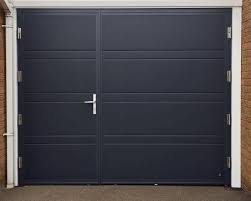 side hinged garage doorsCMS Doors on Twitter An insulated Side hinged garage door split
