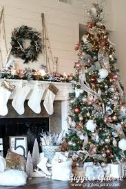 create a winter wonderland with this glam metallic farmhouse christmas tree michaels dream tree challenge