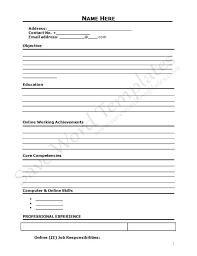 Curriculum Vitae Blank Form - http://www.resumecareer.info/curriculum