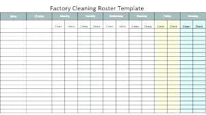 Monthly Roster Template
