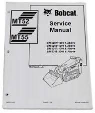 bobcat service manual bobcat mt52 mt55 mini track loader service manual shop repair book 1 6903372