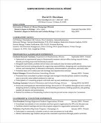 What Is Chronological Resume Magnificent Chronological Resume Template 48 Free Word PDF Documents