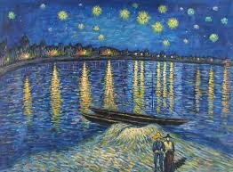 starry night over the rhone 2 painting vincent van gogh starry night over the rhone