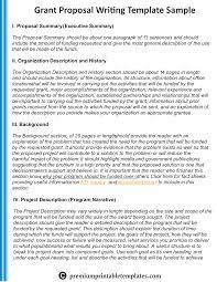 Grant Writing Proposal Sample Template