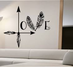 Small Picture Arrow Feather Love Wall Decal namaste Vinyl Sticker Art Decor
