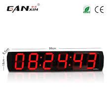 large office wall clocks. Ganxinhot Sell 6 Inch Digits Indoor Clock Large Led Display Digital Office Pro Garage Edition Wall Timer Number Clocks G