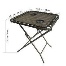 folding home side table with mesh drink holders for patio garden picnics beach