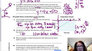 gm8 5 1 writing linear equations from situations graphs