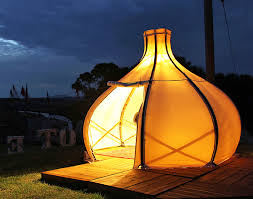 This gorgeous bamboo (f)route POD is perfect for your next glamping getaway