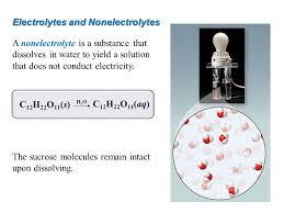 16 electrolytes and nonelectrolytes
