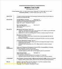 Top Result Sample Resume Format For Mechanical Engineering Freshers