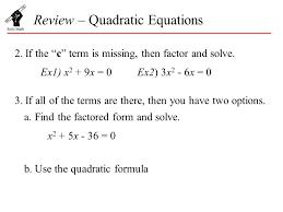 3 review quadratic