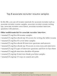 Technical Recruiter Resume Cover Letter