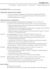 sample resume for an accounting manager objective accounting resume
