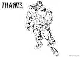 Marvel Avengers Thanos Coloring Pages Free Printable Coloring Pages