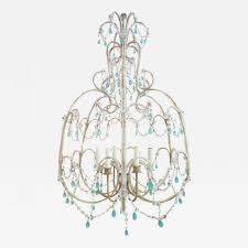 listings furniture lighting chandeliers and pendants vintage italian beaded chandelier with aqua blue drops