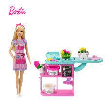Búp Bê Barbie Bán Hoa Búp Bê Và Playset Với Búp Bê Tóc Vàng Mới Ban Đầu Hoa  Shop Phụ Kiện Đồ Chơi Trẻ Em Ngày Lễ Tặng GTN58|Dolls