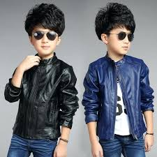 toddler boy faux leather jacket children outerwear spring autumn new baby boys coats clothing top suit