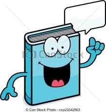 cartoon book talking csp23542863