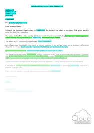 final warning confirmation letter