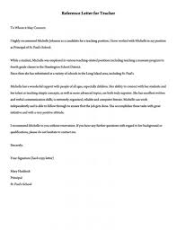 Letters For A Teacher Recommendation Letter For A Teacher 32 Sample Letters