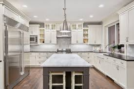 kitchen with white cabinets in waukesha wi