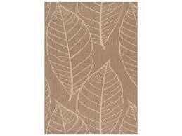 kalora coast fossil leaves flatweave rectangular brown cream area rug