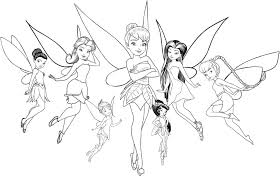 Tinkerbell and disney fairies coloring pages. Tinkerbell Coloring Pages Disney Fairies For Girls Wonder Day
