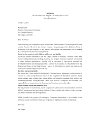 residential counselor cover letter residential counselor cover letter
