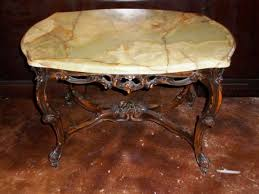 Coffee End Tables Marble Top Wood Base End Table Furniture Bevolo Gas Electric