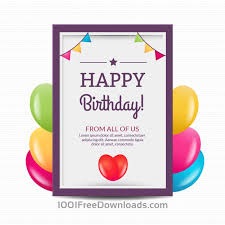 Free Birthday Posters Free Vectors 1001freedownloads Com