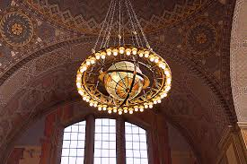 zodiac chandelier in the central library