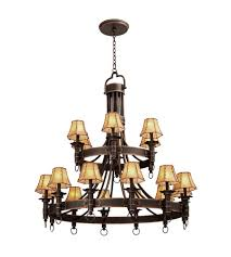kalco 4208ac 8045 americana 18 light 47 inch antique copper chandelier ceiling light in without glass leather wrapped