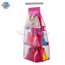 handbag bag storage holder 6 pockets hanging shelf hanger purse rack organizer