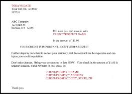 payment request letter to client small balance collection service