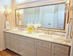 A vintage bathroom mirror made in cream color
