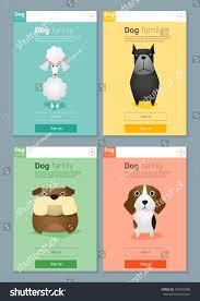 Dog Web Design Animal Banner Dogs Web Design Vector Stock Vector Royalty