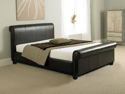 collection in white leather sleigh bed with details about tuscany 4ft6 double bed or king size leather sleigh