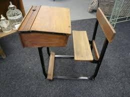 old school desk with fold away seat solid wood desk antique desk