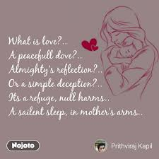 What Is Love A Peacefull Dove Almighty's Reflection Or A Classy Love Deception