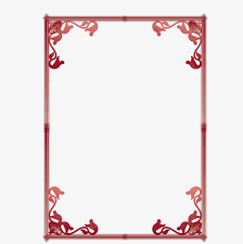 Red Card Border Red Card Frame Png And Vector For Free Download