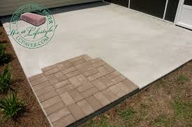 brilliant over concrete slab with pavers overlay thin savannah for thin pavers over concrete m