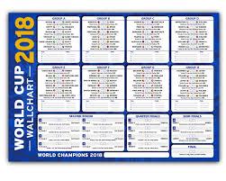 World Cup Russia Wall Chart World Cup Projects Tournament Wallchart Russia 2018 Neat Stylish Wall Chart To Track The Football Progress Blue