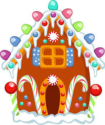gingerbread house clipart background. Simple Clipart In Gingerbread House Clipart Background O