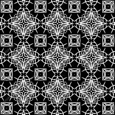 On a black background white patterns. Q  Stock Photo #103851932
