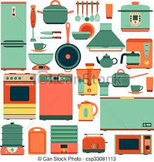 kitchen appliances clipart. Contemporary Appliances Set Of Kitchen Appliances  Csp33081113 Inside Kitchen Appliances Clipart C