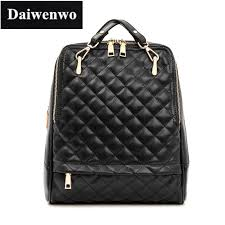 Diamond Lattice Rucksack Genuine Cow Leather Backpack Schoolbag ... & Diamond Lattice Rucksack Genuine Cow Leather Backpack Schoolbag Women's  Backpacks Shoulder Travel bag Plaid Geometry Quilted Adamdwight.com