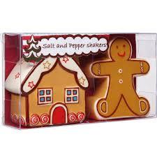 Gingerbread Kitchen Curtains Christmas Fayre Gingerbread Salt Pepper Set Disc Tabletop Palmers