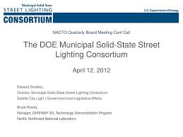 Doe Street Lighting The Doe Municipal Solid State Street Lighting Consortium