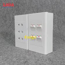 Combo ổ cắm điện ba 2 chấu 16A (3520W) + 4 công tắc điện LiOA - Lắp nổi -  P534115   Sàn thương mại điện tử của khách hàng Viettelpost